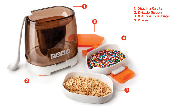 Zoku Chocolate Station 2 Popsicles in MINUTES with Zoku Quick Pop Maker 62