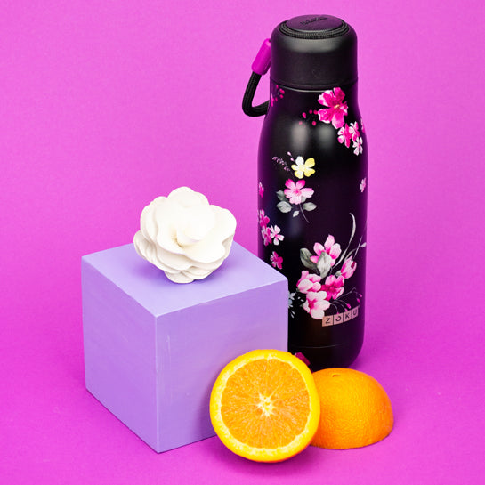 18oz Stainless Steel Midnight Floral Bottle - Zoku