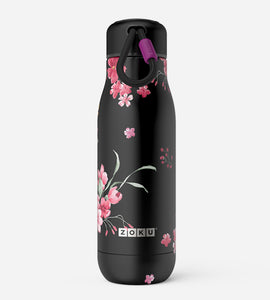 18oz Stainless Steel Midnight Floral Bottle