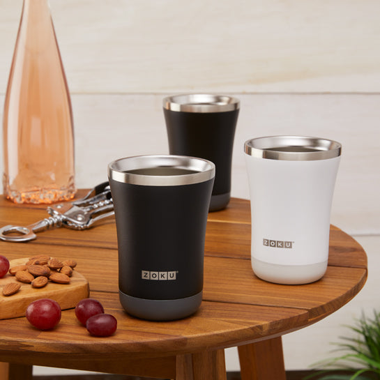 12oz 3-in-1 Stainless Steel Tumbler Powder Coated - Zoku