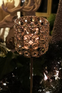 Silver & Crystal Effect Tealight Holder