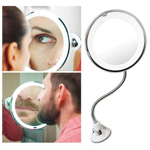 10x Magnifying LED Lighted Mirror