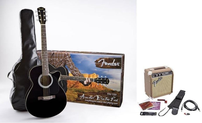 Fender FA-130 Best Acoustic Electric Guitar Pack 2020