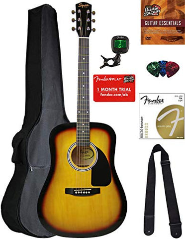 Fender Squier Dreadnought Acoustic review 2020