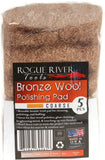 Rogue River Tools Bronze Wool Pads (5pc) Coarse
