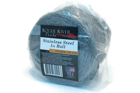 434 Stainless Steel Wool 1lb Roll by Rogue River Tools (Coarse)