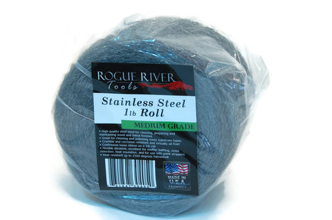 434 Stainless Steel Wool 1lb Roll by Rogue River Tools (Medium)
