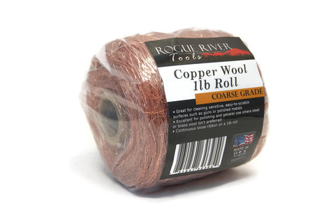 Rogue River Tools Copper Wool 1lb Roll (Coarse)