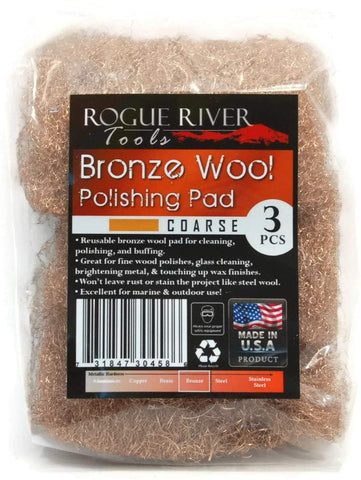 Rogue River Tools Bronze Wool - 3pad (Coarse)