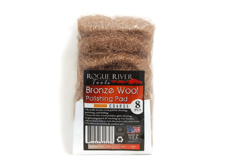Rogue River Tools Bronze Wool Pads (8pc) Coarse