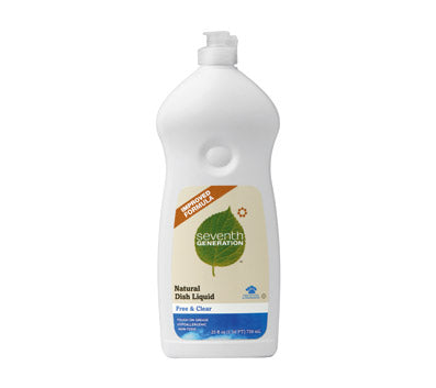 Seventh Generation Free & Clear Automatic Dishwasher Gel (6x42 Oz)