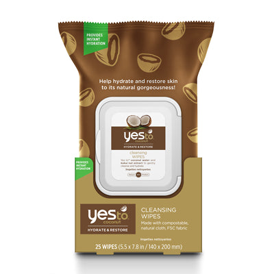 Yes To Coconut Cleansing Wipes (3x30 Ct)