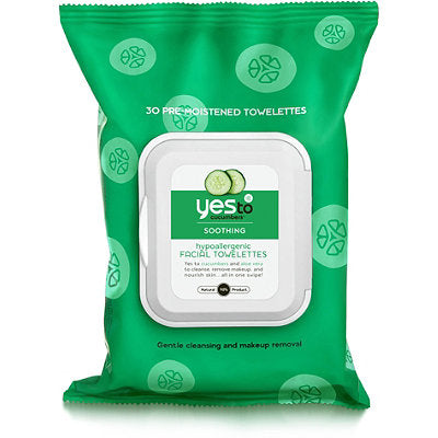 Yes To Cucumbers Facial Towelettes (8x10 Ct)