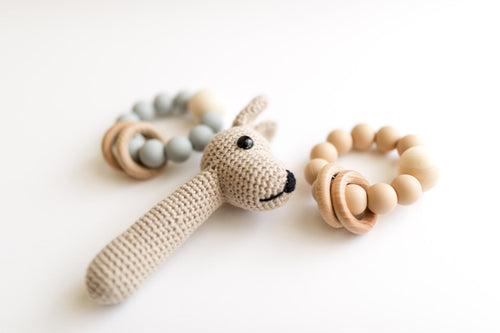 Handmade Crotcheted Joey Rattle