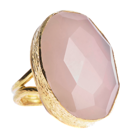 Sexy Single Rose Quartz Ring