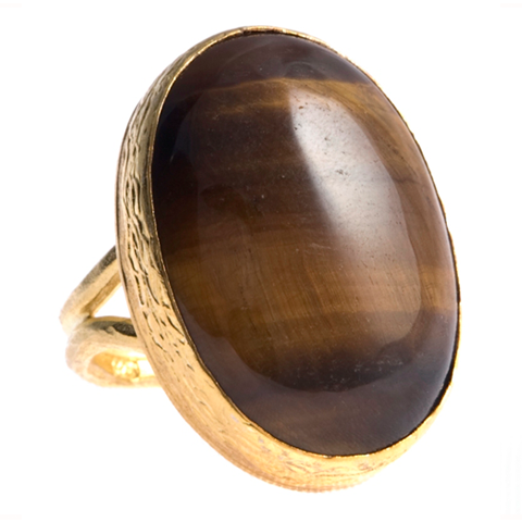 Sexy Single Tiger's Eye Ring