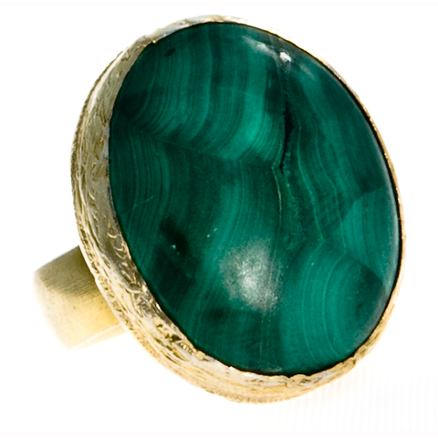 Sexy Single Malachite Ring