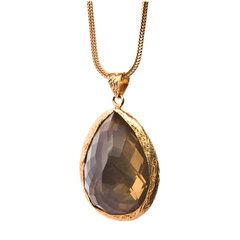 Single Tier Smokey Topaz Pendant