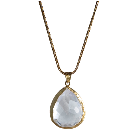 Single Tier Crystal Quartz Necklace