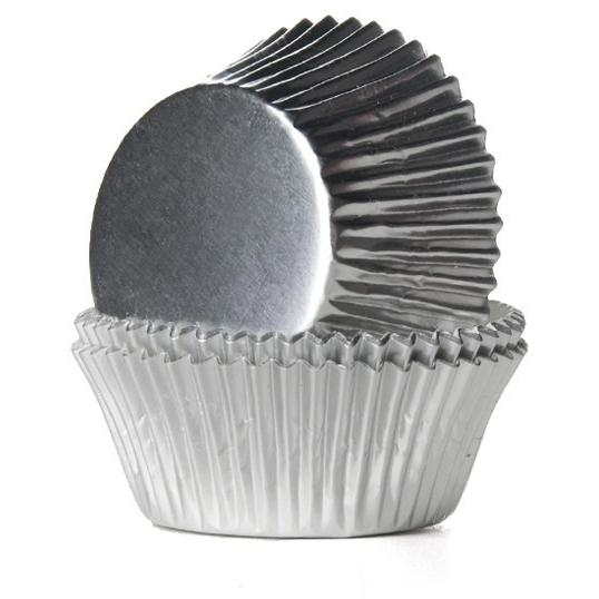 High Quality Foil Baking Muffin/ Cupcake Cases- Silver Pack 56