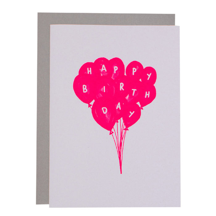 BIG CARD - BIRTHDAY BALLOONS - various colours