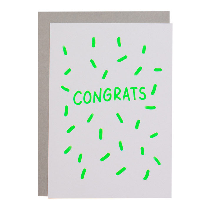 BIG CARD - CONGRATS - various colours