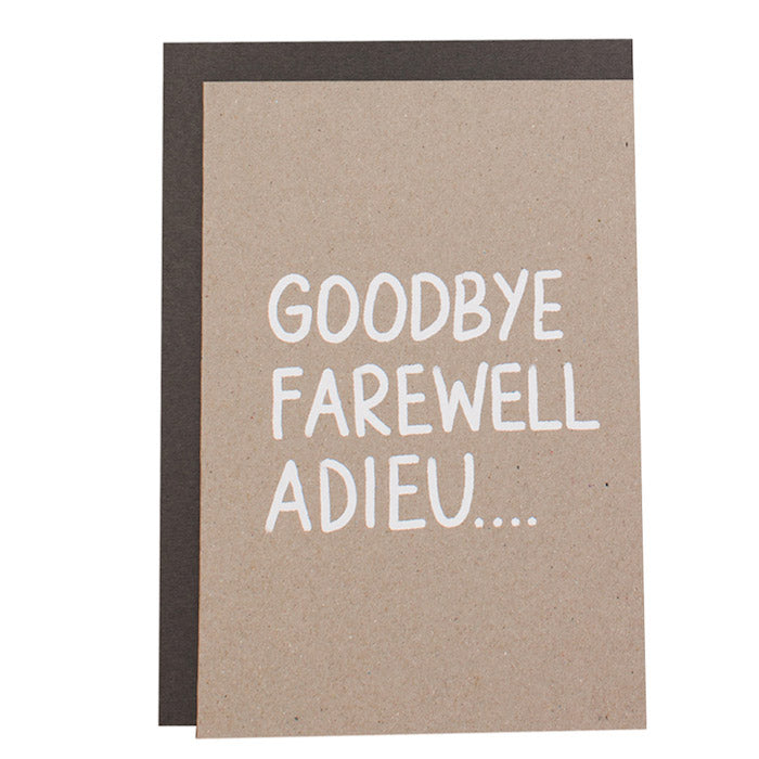 BIG CARD - GOODBYE... - various colours