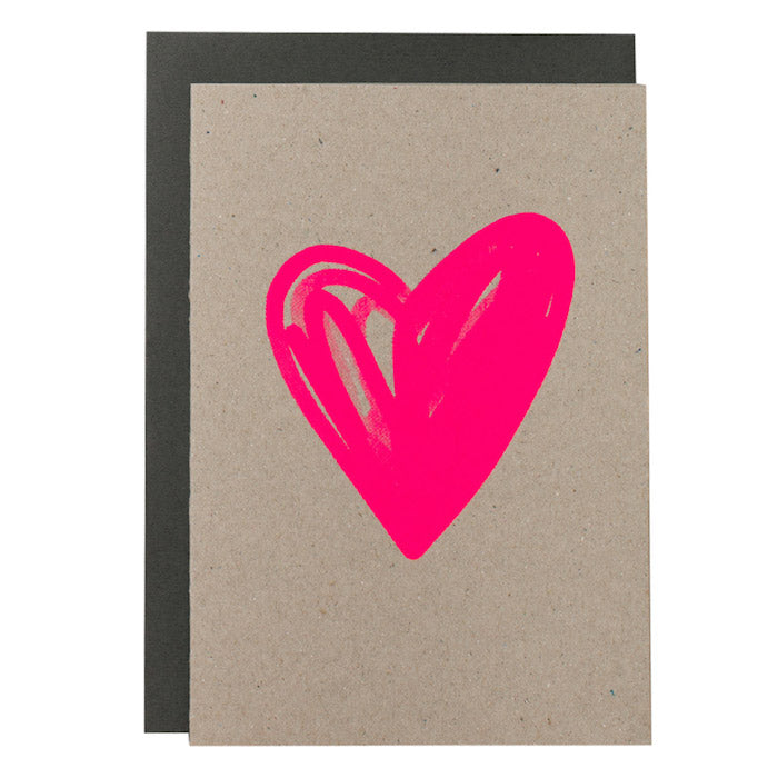 BIG CARD HEART Various Colours Me Amber