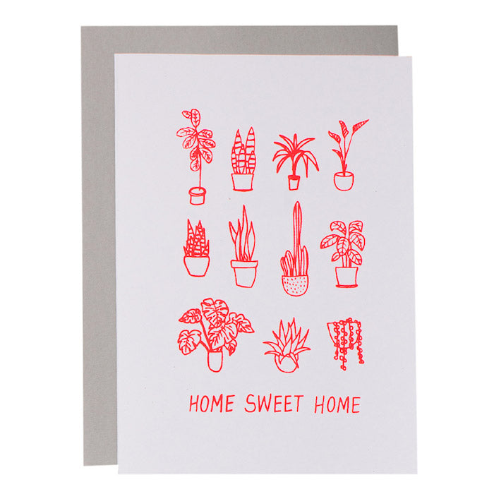 BIG CARD - HOME SWEET HOME - various colours
