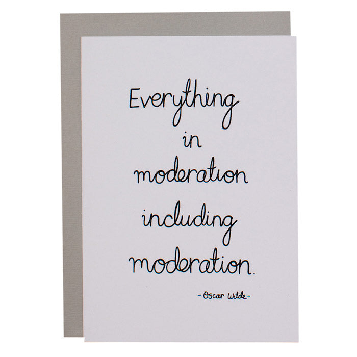 BIG CARD - MODERATION - various colours