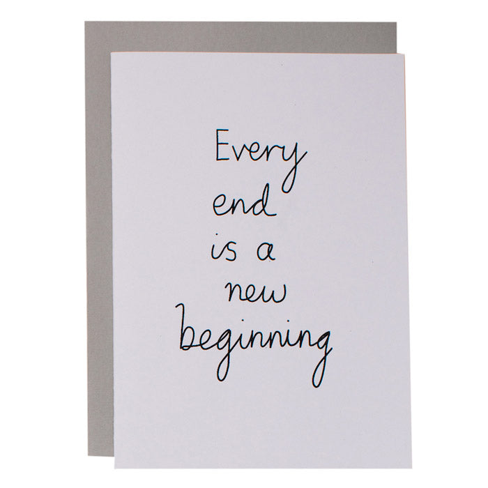 BIG CARD - NEW BEGINNING - various colours