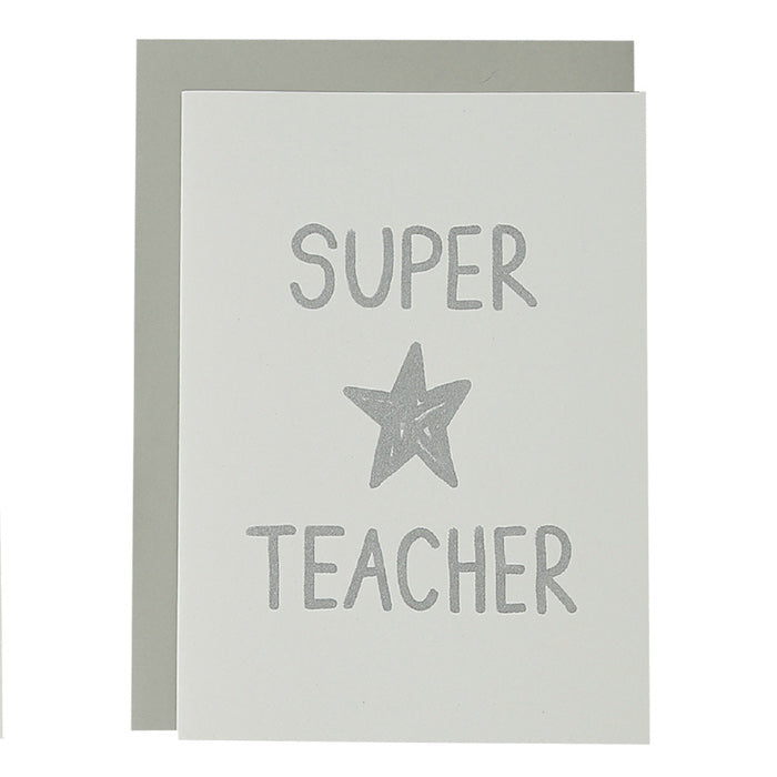 BIG CARD - SUPER STAR TEACHER- various colours