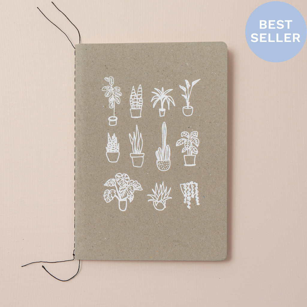 POT PLANTS NOTEBOOK - various colours