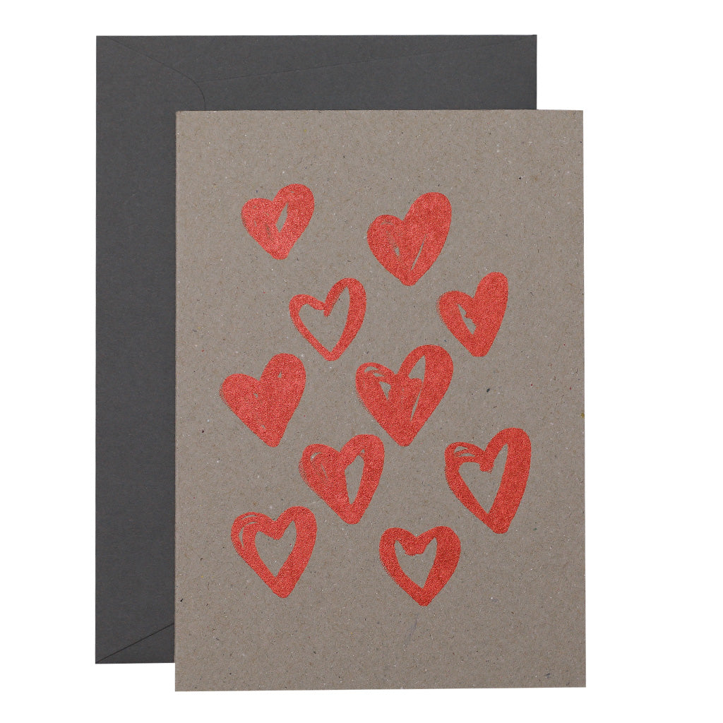 BIG CARD - HEART SCATTER - various colours