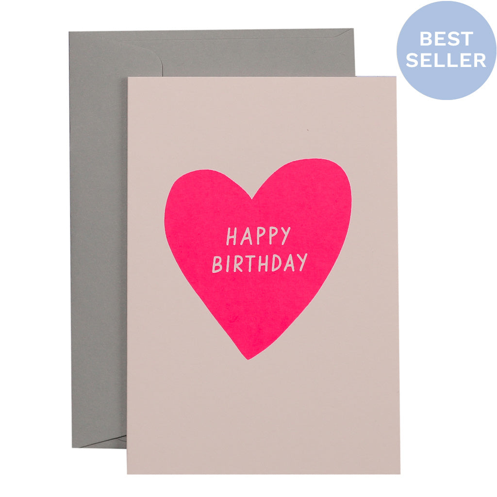 BIRTHDAY HEART - various colours