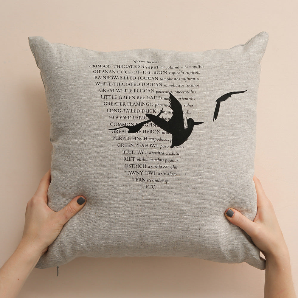 3 BIRDS cushion cover