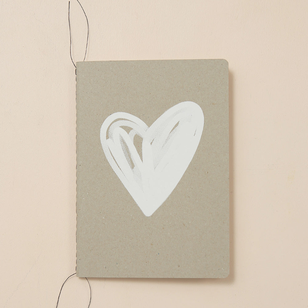 HEART NOTEBOOK - various colours