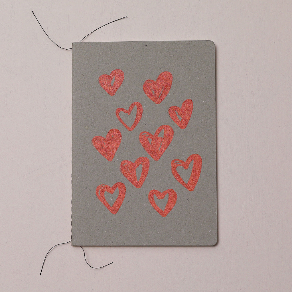HEART SCATTER NOTEBOOK - various colours