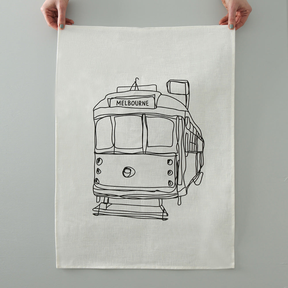 MELBOURNE TRAM TEA TOWEL - various colours