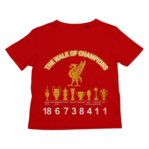 LFC-WalkofChampions Kids Retail T-Shirt|B&C Collection|2019-2020 EPL title