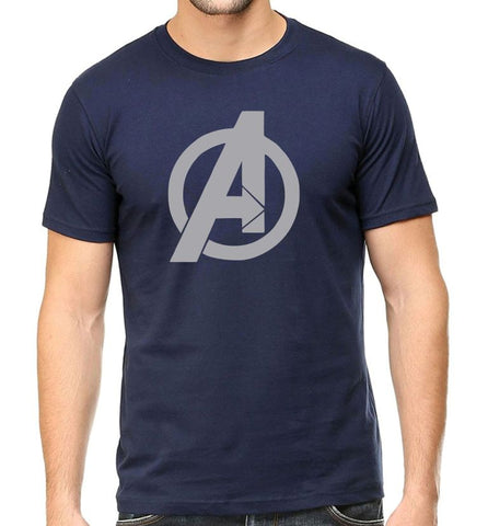 Men's Round Neck 100% cotton tshirt - Marvel Superhero Avengers Endgame Logo