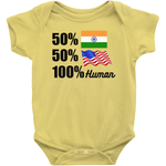 Rabbit Skins 4400 Infant Baby Rib Bodysuit - 100% Human