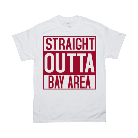 Gildan 2000 Unisex Fine Jersey Crew Neck Tee - Straight Out of Bay Area