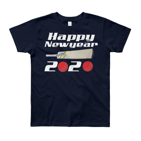 Boy's Round Neck 100% cotton tshirt - Happy New year 2020