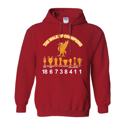 Gildan 18500 Unisex Pullover Hoodie ( No-Zip ) | Liverpool FC | Walk of the champions|2019-2020 EPL title