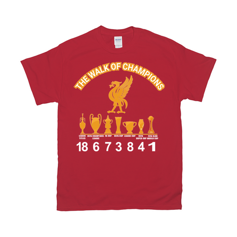 Gildan 2000 Unisex Crew Neck Tee|Liverpool FC|The walk of champions