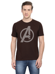 Men's Round Neck 100% cotton tshirt - Marvel Superhero Avengers Endgame stripe textured  logo