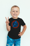 Boy's Round Neck 100% cotton tshirt - Avengers multi color Logo