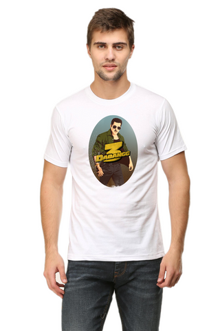Men's Round Neck 100% cotton tshirt - Dabangg 3 | Salman Khan