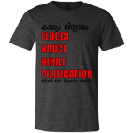 "3001C Bella + Canvas Unisex Jersey Short-Sleeve crew neck T-Shirt - ""Flocci Nauci"""